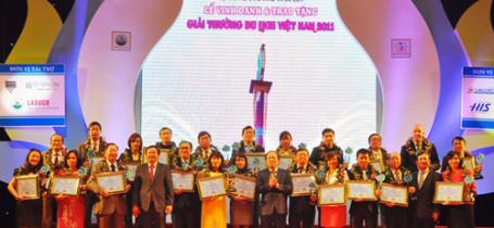Ngày 8/12/2012: Lễ trao giải thưởng doanh nghiệp du lịch hàng đầu Việt Nam 2011