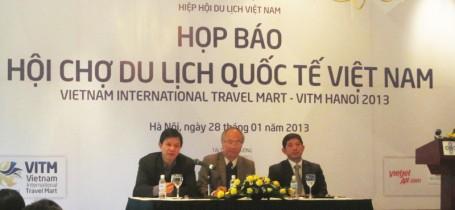 Họp báo Hội chợ Du lịch Quốc Tế Việt Nam (Hà Nội,ngày 28/01/2013)