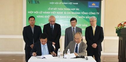 Lễ ký kết thỏa thuận hợp  tác VNA & VISTA